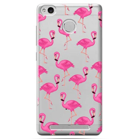 Etui na Xiaomi Redmi 3 Pro - Różowe flamingi.