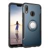 Etui na Huawei P20 Lite - Pancerne Magnet Ring - Niebieski stalowy.