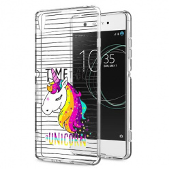 Etui na Sony Xperia XA1 - Time to be unicorn - Jednorożec.