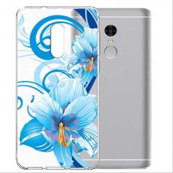 Etui na telefon Xiaomi Note 4X - Niebieski kwiat północy.