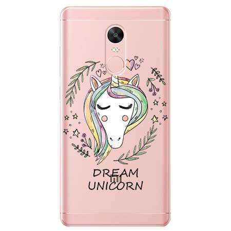 Etui na telefon Xiaomi Note 4X - Dream unicorn - Jednorożec.