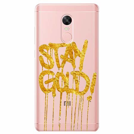 Etui na telefon Xiaomi Note 4X - Stay Gold.