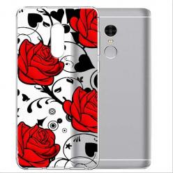 Etui na telefon Xiaomi Note 4X - Czerwone róże.