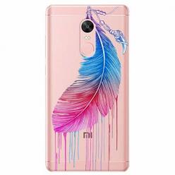 Etui na telefon Xiaomi Note 4X - Watercolor piórko.