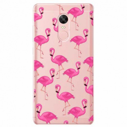 Etui na telefon Xiaomi Note 4X - Różowe flamingi.