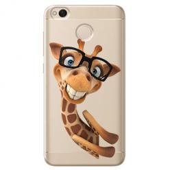 Etui na telefon Xiaomi Note 5A - Wesoła żyrafa w okularach.