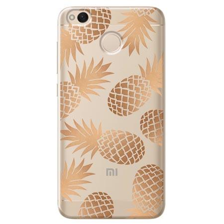 Etui na telefon Xiaomi Note 5A - Złote ananasy.