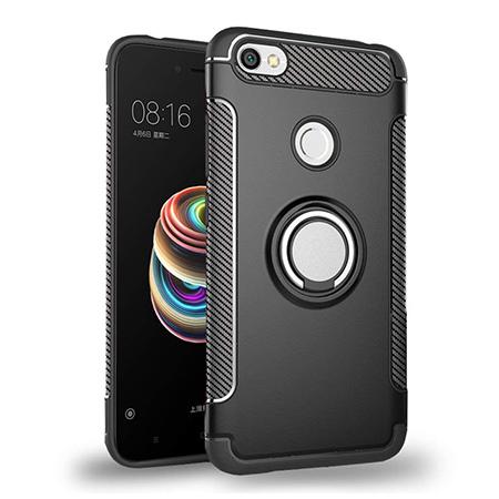 Etui na Xiaomi Redmi Note 5A Prime - Pancerne Magnet Ring - Czarny.