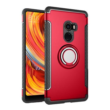 Etui na Xiaomi Mi Mix 2 - Pancerne Magnet Ring - Czerwony.