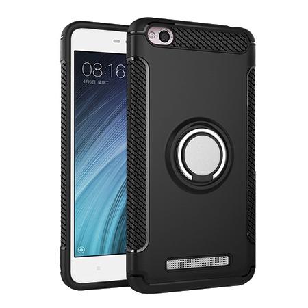 Etui na Xiaomi Redmi 4A - Pancerne Magnet Ring - Czarny.
