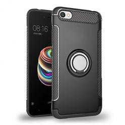 Etui na Xiaomi Redmi Note 5A - Pancerne Magnet Ring - Czarny.