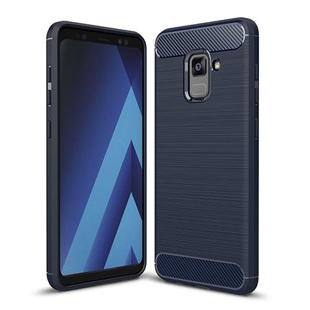 Etui na Samsung Galaxy A8 2018 - bumper Neo CARBON - Granatowy.