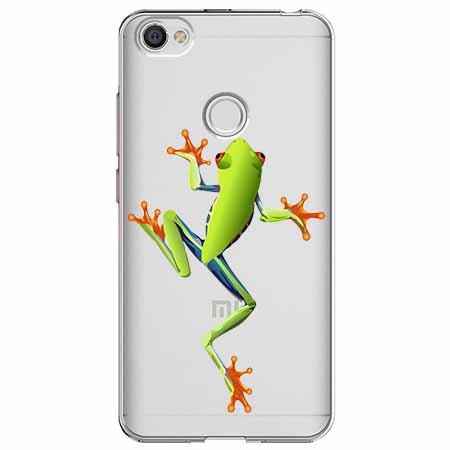 Etui na Xiaomi Note 5A Prime - Zielona żabka.