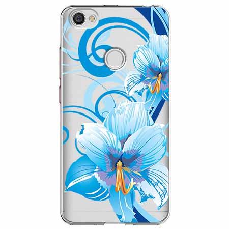 Etui na Xiaomi Note 5A Prime - Niebieski kwiat północy