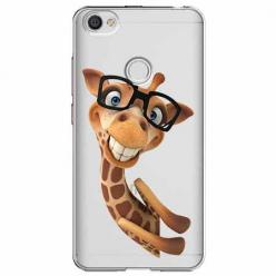 Etui na Xiaomi Note 5A Prime - Wesoła żyrafa w okularach.