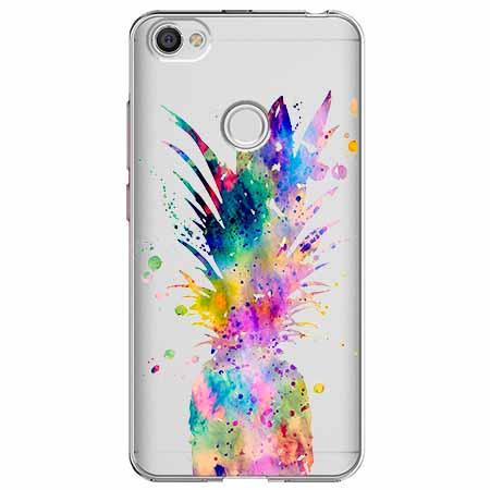 Etui na Xiaomi Note 5A Prime - Watercolor ananasowa eksplozja.