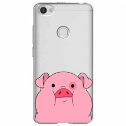 Etui na Xiaomi Note 5A Prime - Słodka różowa świnka.