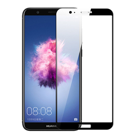 Huawei P Smart - hartowane szkło 5D na cały ekran - Czarny.