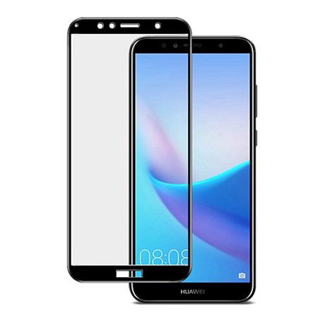Huawei Y6 2018 - hartowane szkło 5D na cały ekran - Czarny.