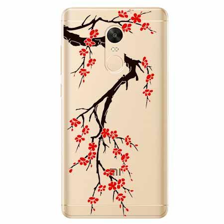 Etui na Xiaomi Redmi 5 Plus - Krzew kwitnącej wiśni.