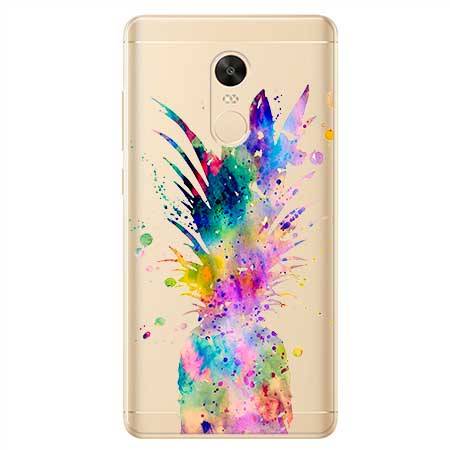Etui na Xiaomi Redmi 5 Plus - Watercolor ananasowa eksplozja.