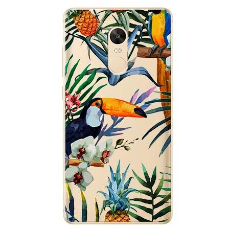 Etui na Xiaomi Redmi 5 Plus - Egzotyczne tukany.