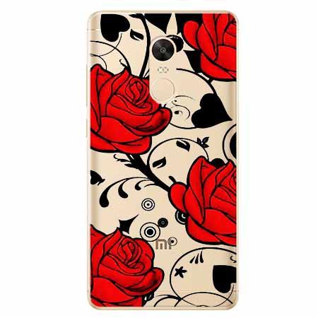 Etui na Xiaomi Redmi 5 Plus - Czerwone róże.