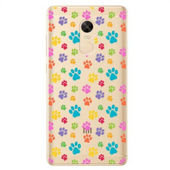 Etui na Xiaomi Redmi 5 Plus - Kolorowe psie łapki.