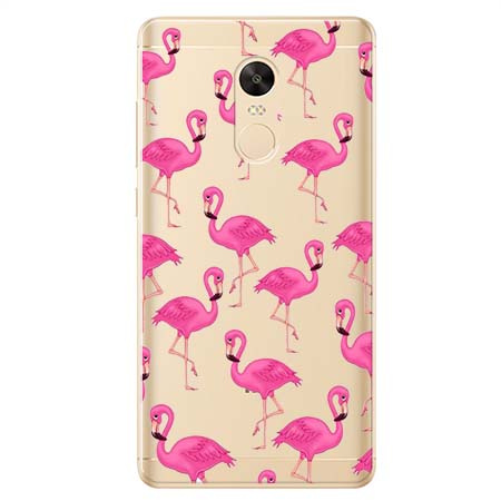 Etui na Xiaomi Redmi 5 Plus - Różowe flamingi.