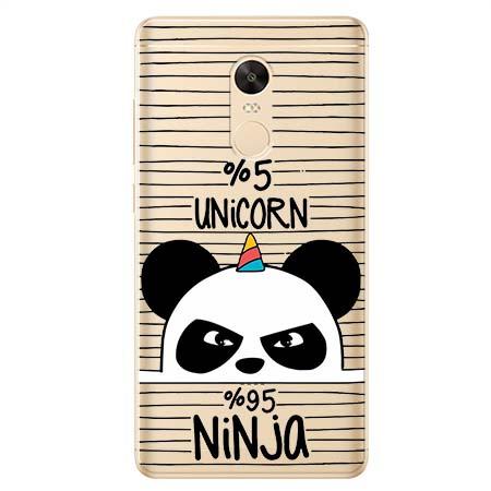 Etui na Xiaomi Redmi 5 Plus - Ninja Unicorn - Jednorożec.