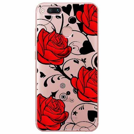 Etui na Xiaomi Mi 5x - Czerwone róże.