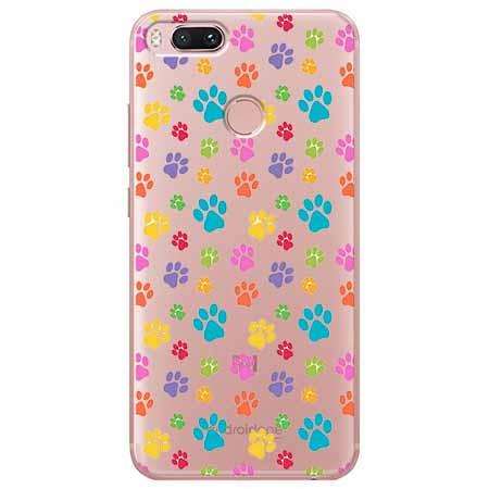 Etui na Xiaomi Mi 5x - Kolorowe psie łapki.