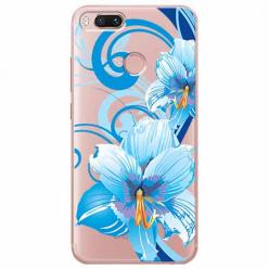 Etui na Xiaomi Mi A1 - Niebieski kwiat północy.