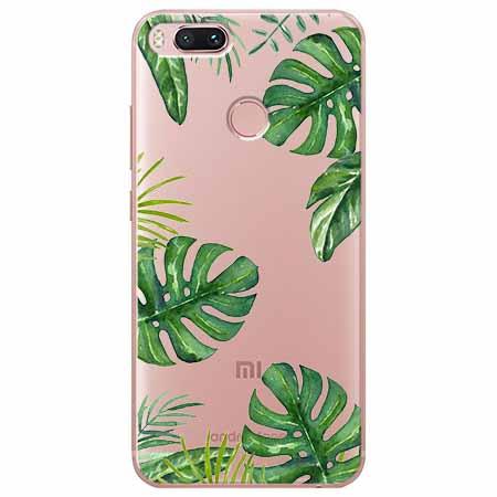 Etui na Xiaomi Mi A1 - Egzotyczne roślina monstera.