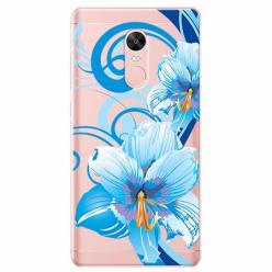 Etui na Xiaomi Note 4 Pro - Niebieski kwiat północy.
