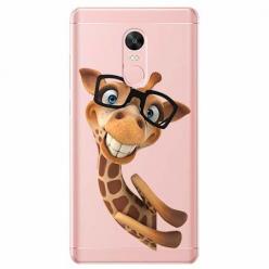 Etui na Xiaomi Note 4 Pro - Wesoła żyrafa w okularach.
