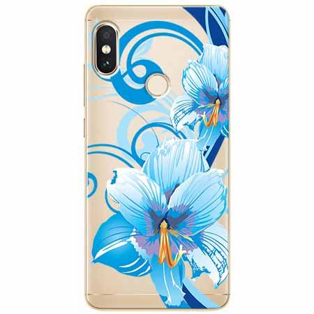 Etui na Xiaomi Note 5 Pro - Niebieski kwiat północy.