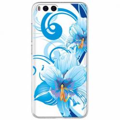 Etui na Xiaomi Mi 6 - Niebieski kwiat północy.