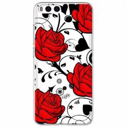 Etui na Xiaomi Mi 6 - Czerwone róże.