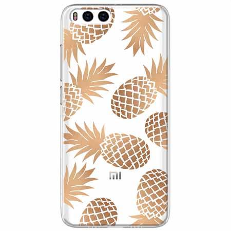 Etui na Xiaomi Mi 6 - Złote ananasy.