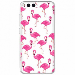 Etui na Xiaomi Mi 6 - Różowe flamingi.