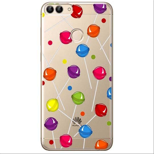 Etui na Huawei P Smart - Kolorowe lizaki.