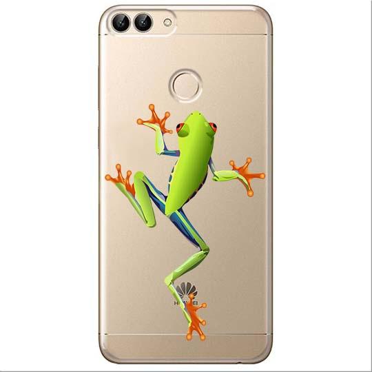 Etui na Huawei P Smart - Zielona żabka.