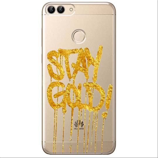 Etui na Huawei P Smart - Stay Gold.