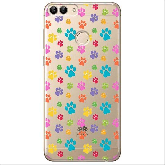 Etui na Huawei P Smart - Kolorowe psie łapki.
