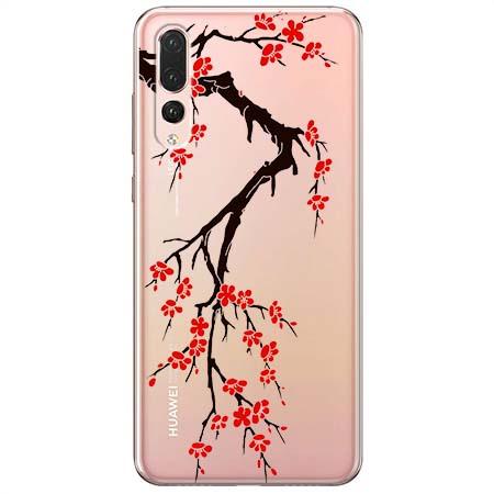 Etui na Huawei P20 Pro - Krzew kwitnącej wiśni.