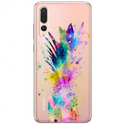 Etui na Huawei P20 Pro - Watercolor ananasowa eksplozja.