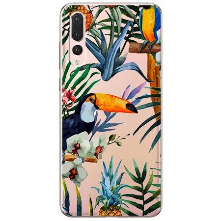 Etui na Huawei P20 Pro - Egzotyczne tukany.