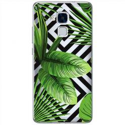 Etui na Huawei Honor 7 Lite - Egzotyczne liście bananowca.