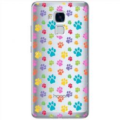 Etui na Huawei Honor 7 Lite - Kolorowe psie łapki.